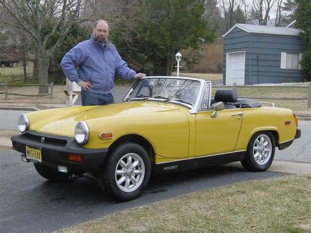 Steve and his 1978 MG Midget in 2002